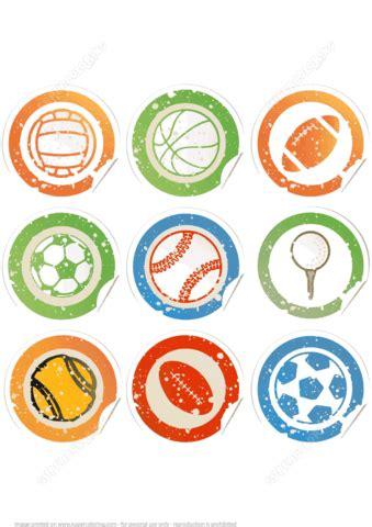 printable sport ball stickers  printable papercraft