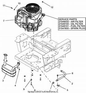 Gravely 991202  040000 -   Pro-turn 60 U0026quot  Parts Diagram For Engine