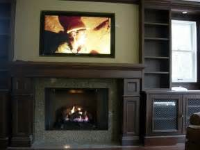 Fireplaces with TVs Above