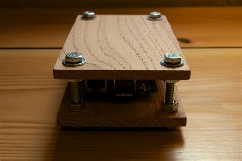 wooden raspberry pi case