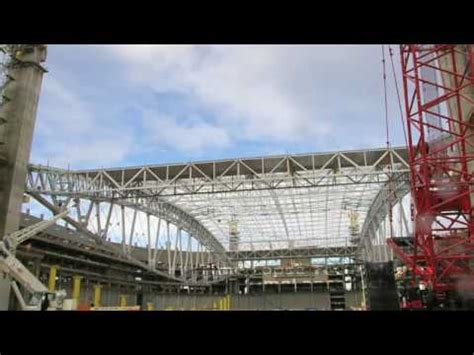 time lapse cardinals stadium roof lift superlift youtube