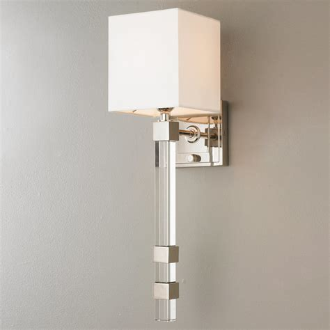 Modern Sophisticate Crystal Torch Sconce  Shades Of Light