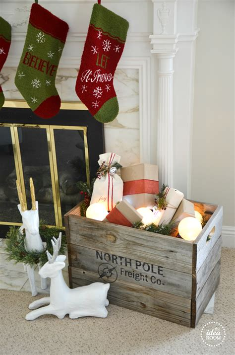 christmas crate christmas decor  idea room