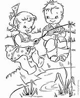 Coloring Pages Camping Summer Printable Adult Colouring Wisconsin Fish sketch template