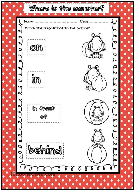 monster prepositions  place