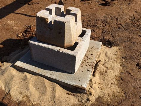 precast deck post footings how to build a rock solid low cost grid cabin foundation