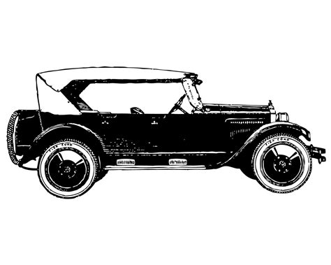 Antique Car Clip Art Silhouette