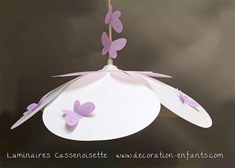 abat jour chambre bébé garçon suspension fleur blanche et parme fabrique casse