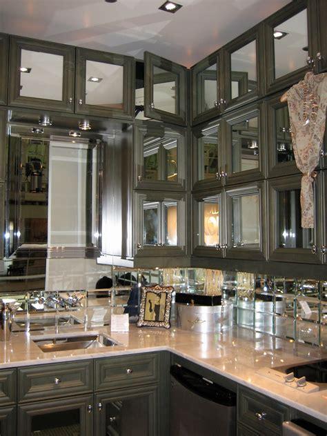 Grandiose Mirror Kitchen Cabinets Doors Storage Set With