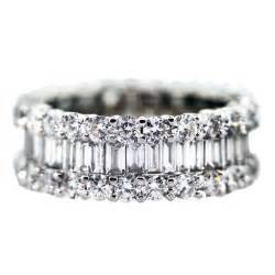 gold eternity rings 5 carat diamond eternity ring wedding white gold band at