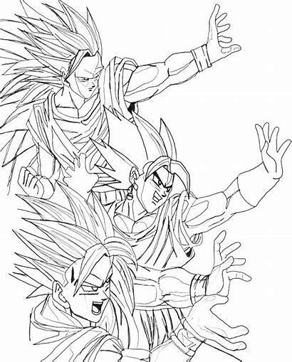 Coloring Goku Saiyan Super God Pages Dragon