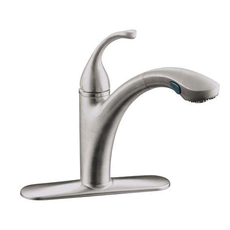 single handle pullout kitchen faucet kohler forte single handle pull out sprayer kitchen faucet