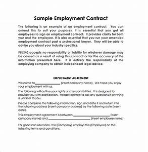 employment contract 9 download documents in pdf doc With basic contract of employment template
