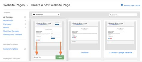 create a new page template how to create and edit website pages