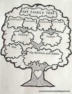 just one mom trying With draw a family tree template