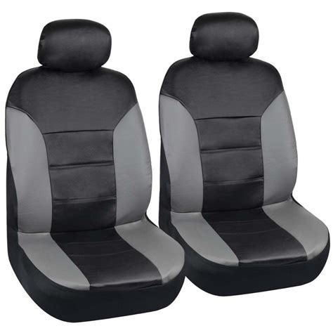 Motor Trend Pu Leather Car Seat Covers Black Leatherette W