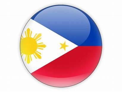 Flag Philippines Round Icon Country Illustration Conny