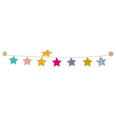 dessin chambre bébé fille kit guirlande étoiles sticker mimilou pour chambre enfant