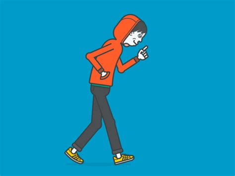 Hoodie Guy Walking {gif} By Shinsuke Matsumoto