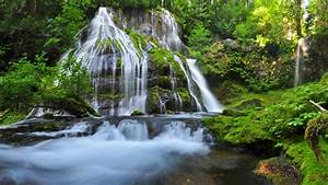 Green, Waterfall, Panther, Creek, Falls, The, Valley, Of, The, Wind