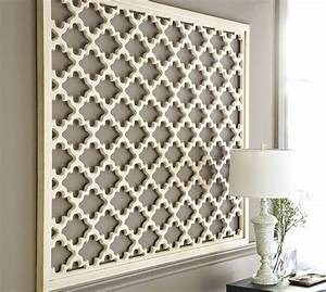 lattice panel wall art pottery barn With kitchen colors with white cabinets with pottery barn metal wall art