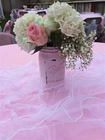 Shabby Chic Baby Shower Table Centerpiece