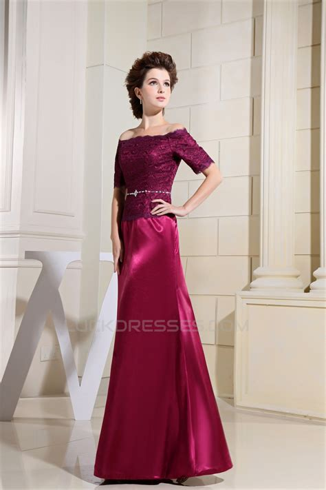 A-Line Half Elbow Length Off-the-Shoulder Mother of the ...