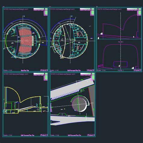 open floor plan design auditorum architecture design sles autocad drawings
