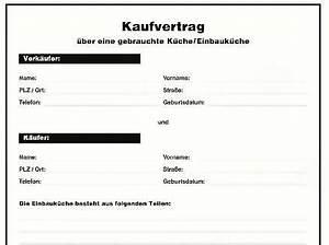 Vorlage Kaufvertrag Küche : formulare f r viele lebenslagen ~ Watch28wear.com Haus und Dekorationen