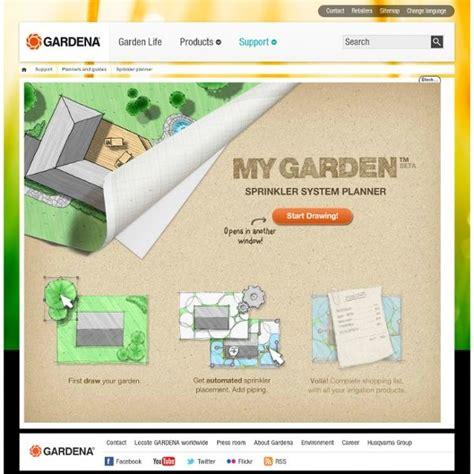 gardena sprinkler planer my garden garden sprinkler planner from gardena digital tools for stress free design