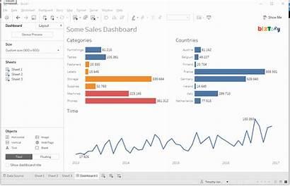 Tableau Dashboard Separator Chart Line Result Vertical