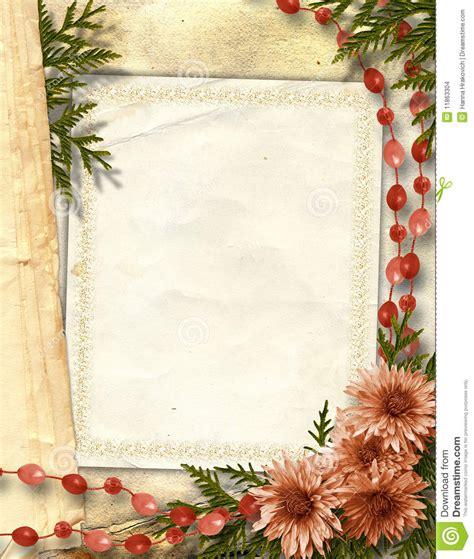 cadre fleuri pour la salutation ou l invitation images stock image 11863304
