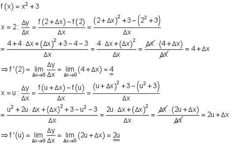 loesungen aufgaben differentialrechnung ii steigung mathe