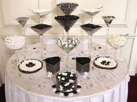 black and white candy table wedding candy chic candy table wedding favor ideas