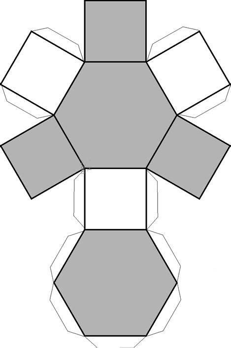 Dibujo recortable hexagonal, figuras geométricas | Moldes