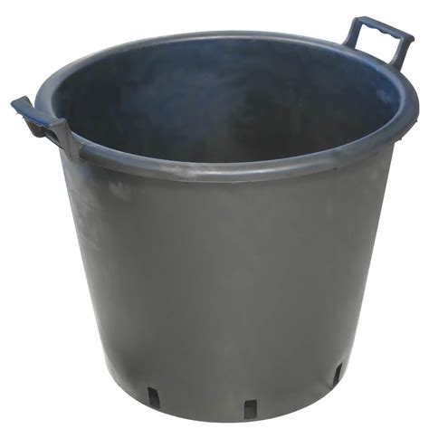 pot 50l rond noir pot plastique growshop terre hydro culture