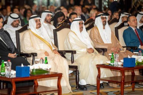 Crown prince of dubai, h.h sheikh hamdan bin mohammed bin rashid al maktoum, with his uncle sheikh saeed bin maktoum bin juma al maktoum, and mr. HH Sheikh Hamdan bin Rashid Al Maktoum leads high-profile opening of 12th Policy Dialogue Forum ...