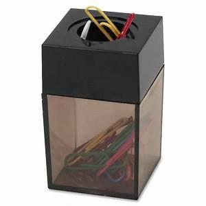 sparco magnetic paper clip dispenser 2quot x 3quot 1 each With document clip holder