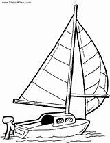 Coloring Pages Transportation Sailboat Sherriallen sketch template