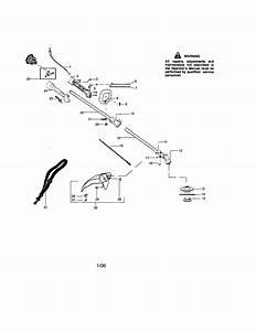 358 796160 Craftsman Gas Powered Weedwacker Line Trimmer
