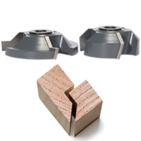 rabbeting miter joint shaper cutter set glue joints