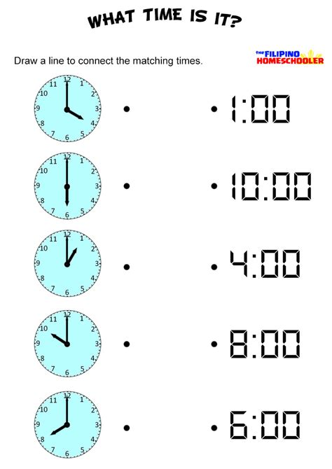 telling time by the hour worksheet the homeschooler