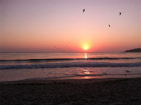 Monterey Bay California At Sunset Monterey Sunset