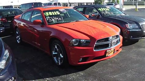 2014 Dodge Charger R/t Sedan Red For Sale Dayton Troy