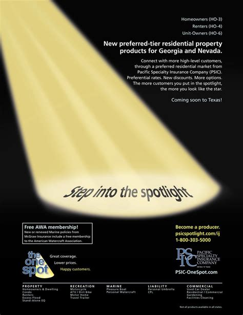 Pacific Specialty Insurance Company ad in Insurance Journal