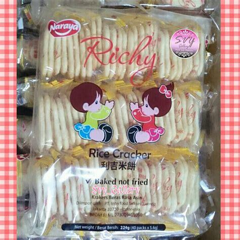 jual naraya richy rice crackers biskuit beras svy