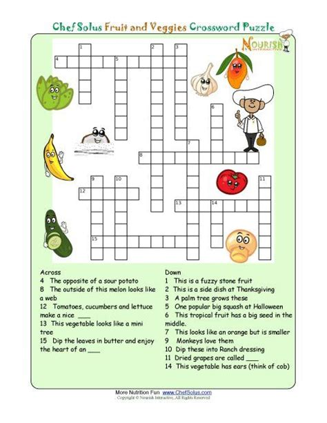 printable crossword puzzles for from nourish