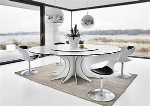 Table salle a manger ronde table ronde avec rallonge Trendsetter
