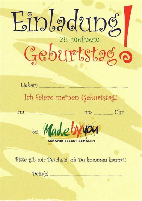 einladungskarten drucken kindergeburtstag geburtstag