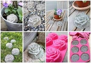 Beton Gießformen Selber Machen : kleine rosen aus beton selber machen basteln ~ Orissabook.com Haus und Dekorationen